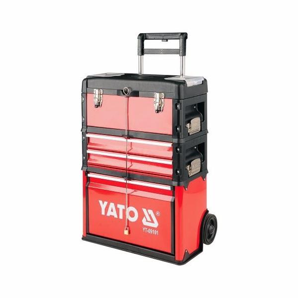 Vozík na nářadí 3 sekce, 2 zásuvky, YATO-09101