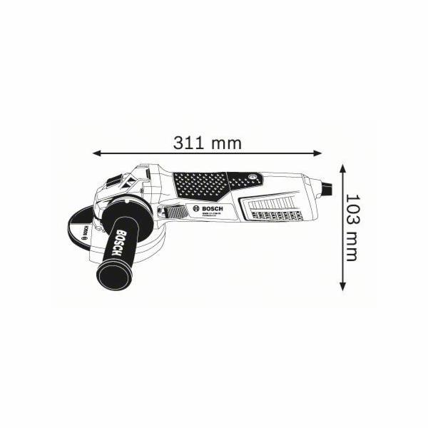 Malá úhlová bruska Bosch GWS 19-125 CI Professional, 1.900 W, 060179N002