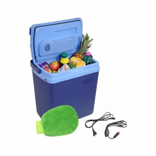 Chladící box 25litrů, BLUE 220/12V, displej s teplotou, COMPASS