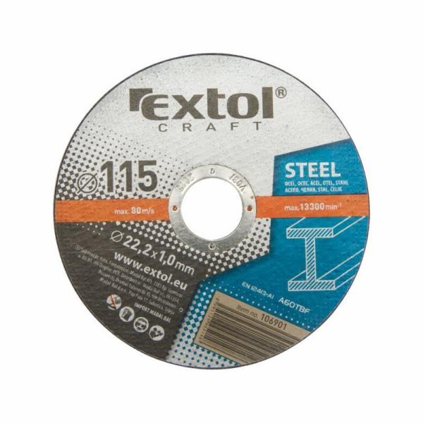Kotouče řezné na kov, 5ks, 125x1,6x22,2mm, EXTOL CRAFT