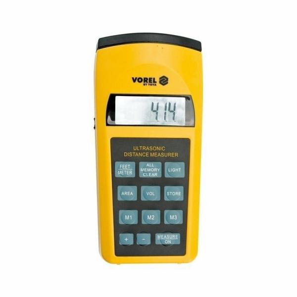 Měřič vzdáleností ultrazvukový do 15 m, rozsah měření: 0,91-15m, odchylka: 0,5%, VOREL TOYA