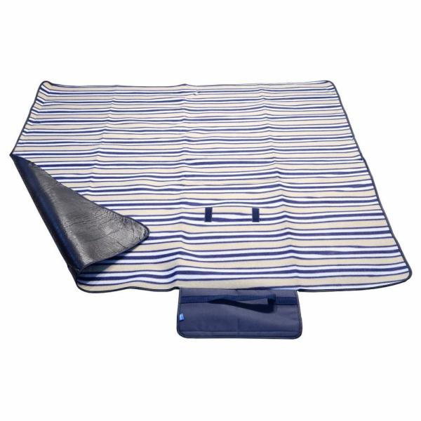 Pikniková deka FLEECE 150x135cm modrá, CATTARA