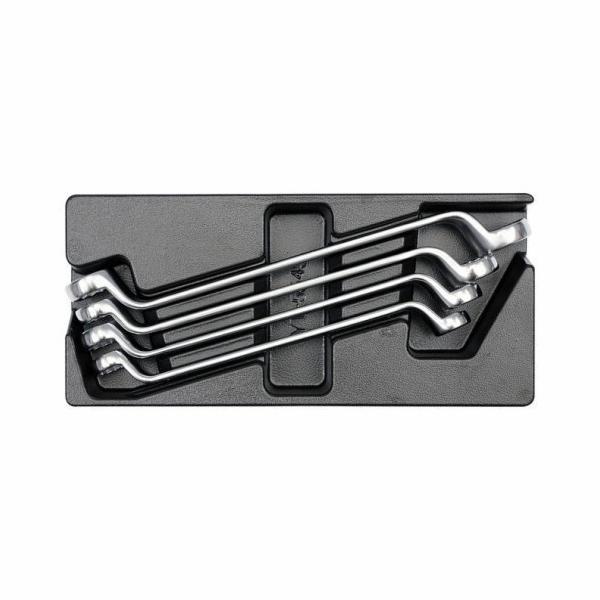 Vložka do zásuvky - klíče očkové ohnuté 4ks 21-32mm, YATO