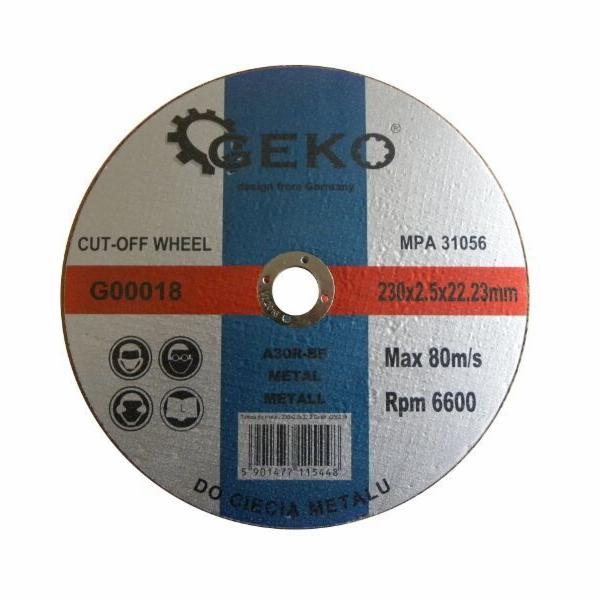 Řezný kotouč na ocel, 230x2,5x22,2mm, GEKO