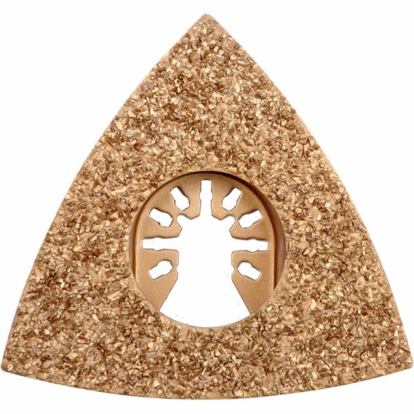 Trojúhelníková brusná deska pro multifunkční nářadí HM, 80mm (beton, keramika ) YATO