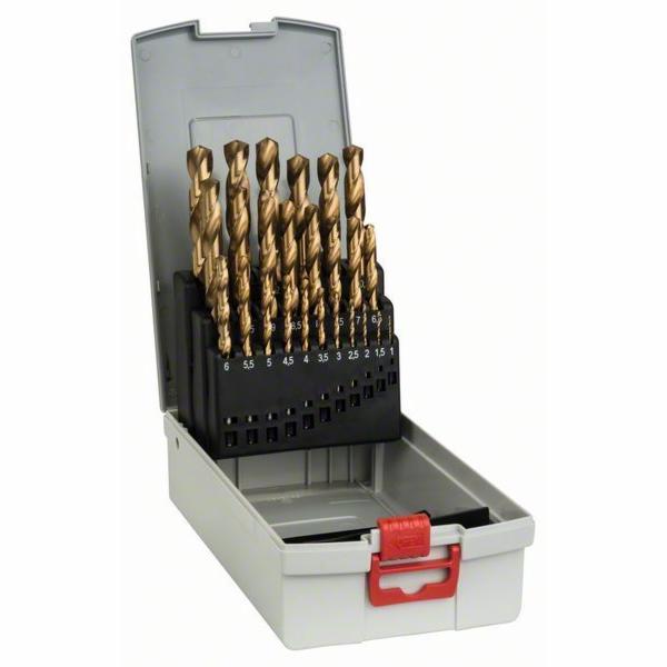 25dílná sada vrtáků do kovu ProBox HSS-TiN (titanový povlak) - 1-13 mm - 3165140689830 BOSCH