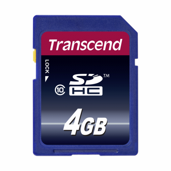Paměťová karta TRANSCEND 4GB SDHC CARD (SD 3.0 SPD Class 10) memory card