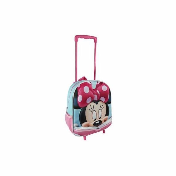Batoh 3D Minnie s vysouvací držadlem a kolečky