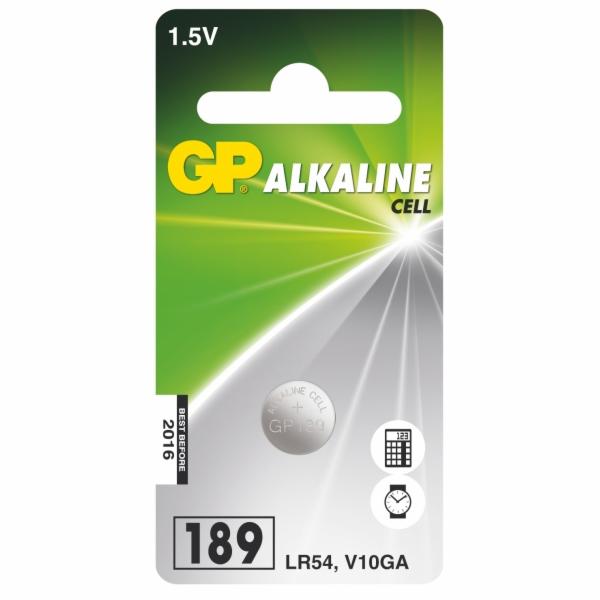 GP LR54 (GP189, 11.6 x 3.05 mm) - 1 ks