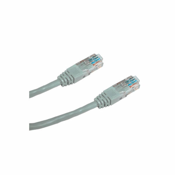 DATACOM Patch cord UTP CAT6 0,25m šedý
