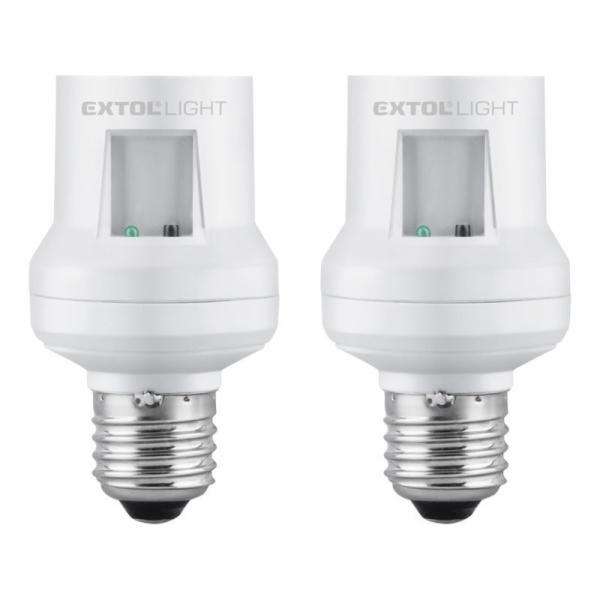 Objímka na žárovku s dálkovým ovládáním, 2ks, max. 60W žárovka, E27, EXTOL LIGHT