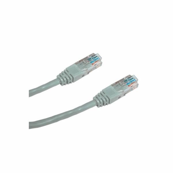 DATACOM Patch cord UTP CAT5E 1,5m šedý