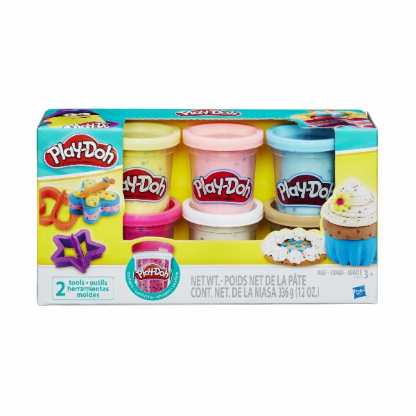 Play Doh sada s konfetami a 2 vykrajovátka