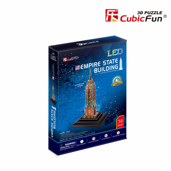Puzzle 3D Empire State Building/led - 38 dílků