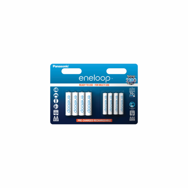 Panasonic Eneloop Combipack 1x4 Mignon AA + 1x4 Micro AAA