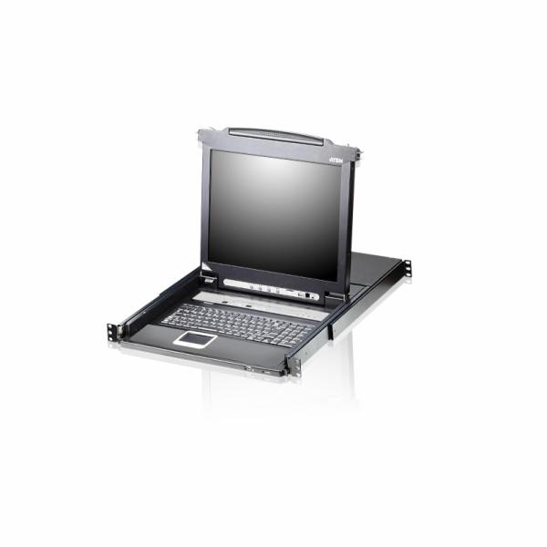 ATEN CL5716M SINGLE RAIL 16P PS/2-USB LCDKVMP 17INCH W/LED LIGHT/USA KB/EU