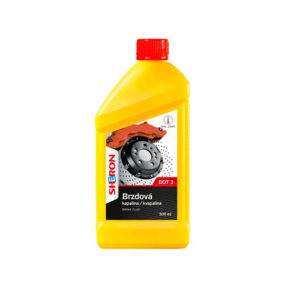 Brzdová kapalina DOT 3, 500 ml SHERON