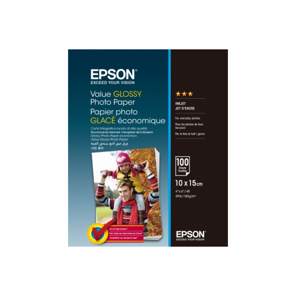 EPSON Value Glossy Photo Paper 10x15cm 100 sheet