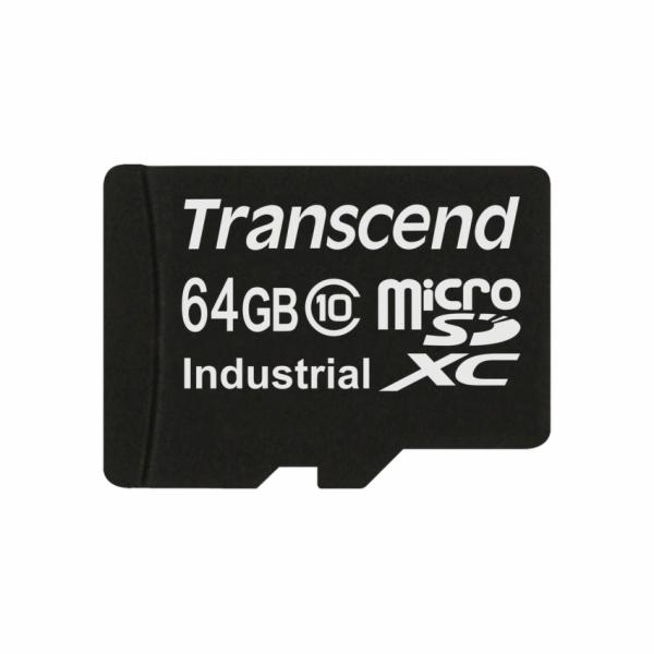 Transcend 64GB microSDXC (Class 10) MLC průmyslová paměťová karta (bez adaptéru), 20MB/s R, 18MB/s W