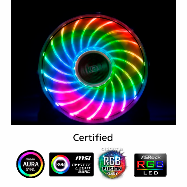 přídavný ventilátor Akasa Vegas X7 LED 12 cm RGB