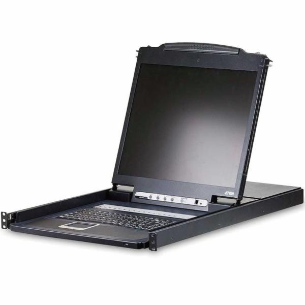 """ATEN 8-port KVM PS/2+USB, OSD, rack, 19"""" LCD"""