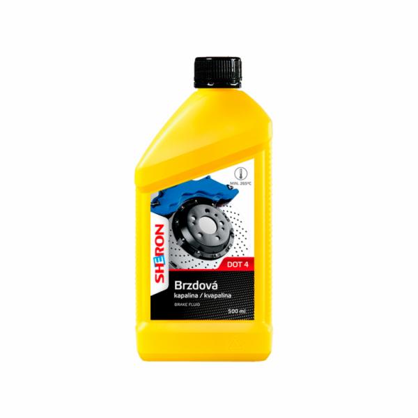 Brzdová kapalina DOT 4, 500 ml SHERON