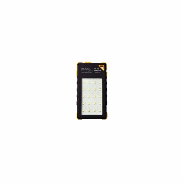 Solární outdoorová powerbanka Akula I 8000mAh Ultra Light, žlutá