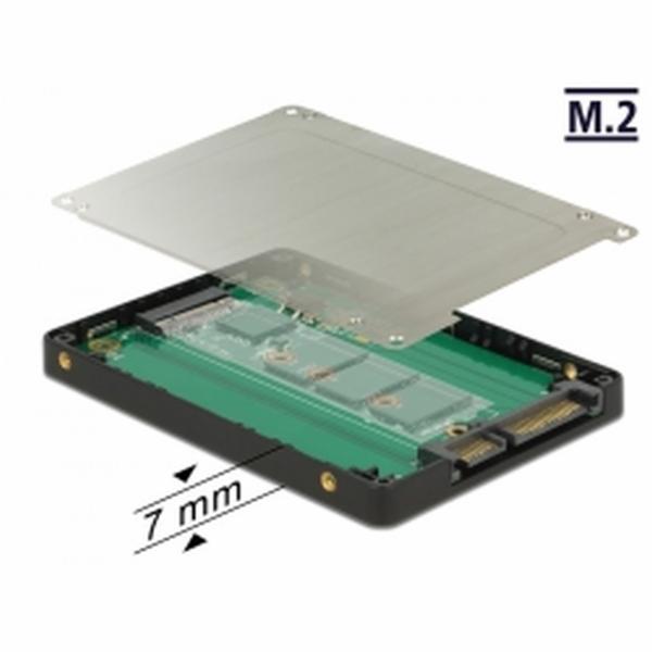 "Delock 2.5"" konvertor SATA 22 Pin > M.2 s pouzdrem"