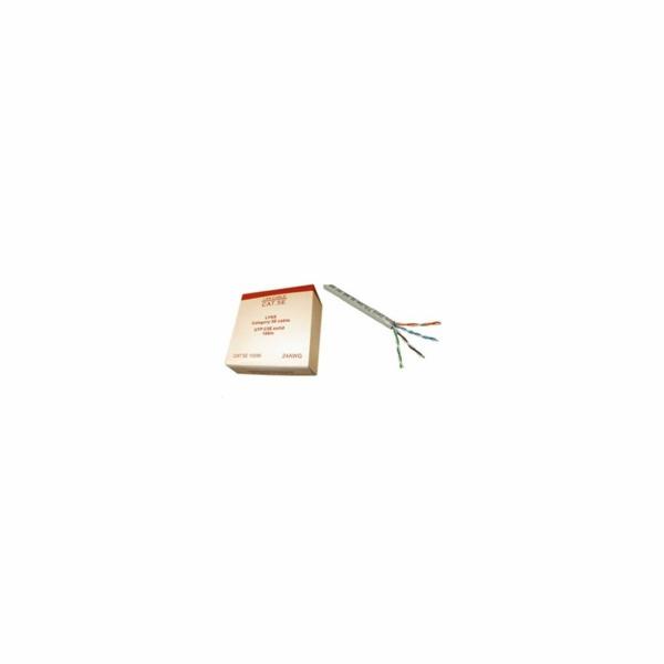LYNX UTP kabel Cat5E 24AWG, drát, 100m, ozn. metráž, box