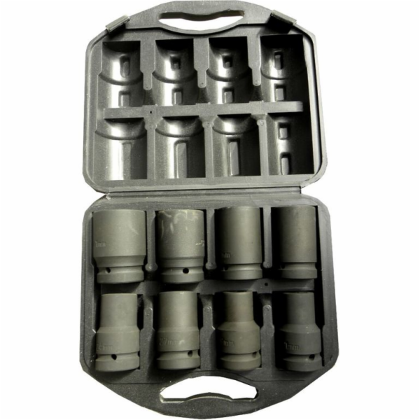 """Sada nástrčných hlavic 1"""", 8ks, 19-41mm, GEKO"""