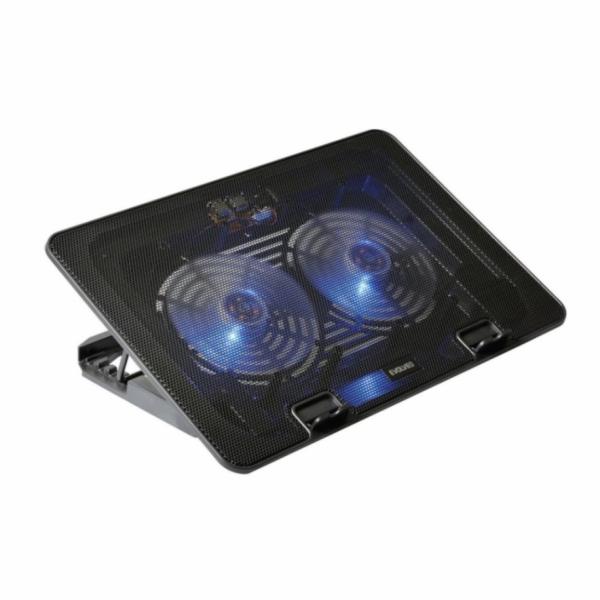 """EVOLVEO A101, chladicí podstavec pro notebook, pro ntb až 17"""", 2x ventilátor, regulace otáček, posvícení, USB"""