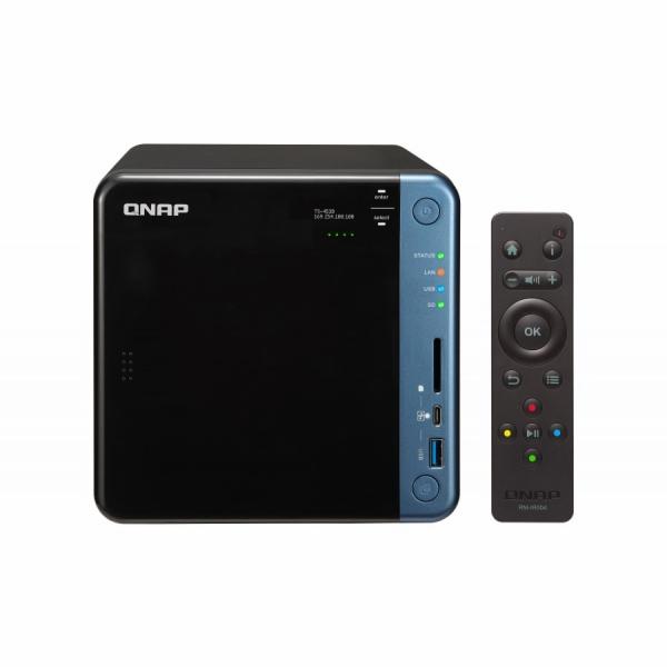 QNAP TS-453B-8G, Intel® Celeron® J3455 Quad-core 1.5 GHz, 8GB DDR3, RAID (0,1, 5, 5 + hot spare, 6, 10), 2x GLAN, 5x USB