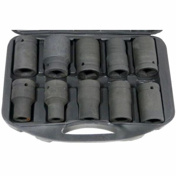 """Sada nástrčných hlavic 1"""", 10ks, 17-41mm, GEKO"""
