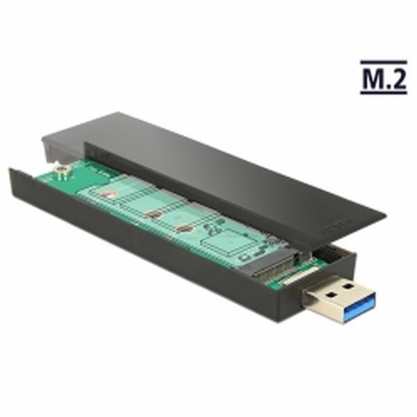 Delock Externí pouzdro M.2 Key B 80 mm SSD > USB 3.1 Gen 2 Typ-A samec