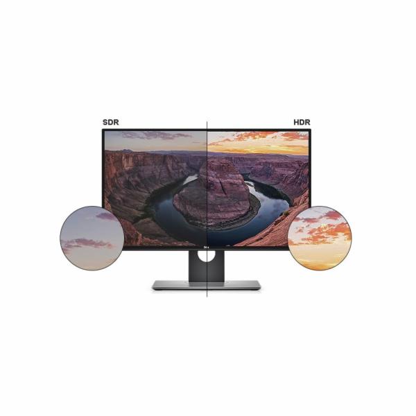 "Dell U2718Q 27"" LCD UltraSharp 4K IPS 16:9 5ms/1300:1/350cd/VESA/DP/mDP/HDMI/3RNBD/Černý"