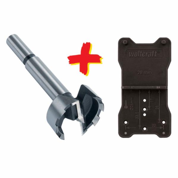 Wolfcraft Forstner-vrták + pomůcka L=90mm O35mm 8728000