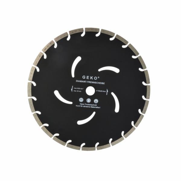 Diamantový řezný kotouč, segmentový, 350x10x25,4mm GEKO