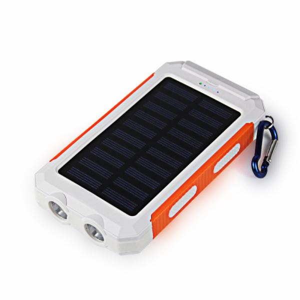 Viking solární outdoorová power banka Delta I 8000mAh, bílo-oranžová