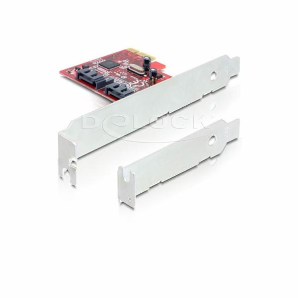 DeLock PCIe řadič SATA 6 GB/s, 2x interní, RAID + low profile
