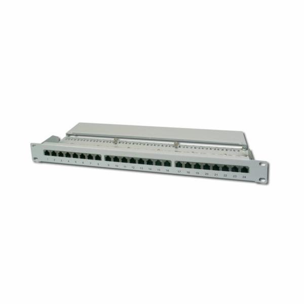 Digitus Patch Panel, CAT5E, stíněný, 24x 8P8C LSA, 1U, šedý