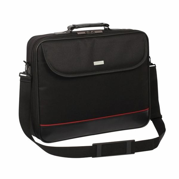 """Modecom brašna MARK na notebooky do velikosti 15,6"""", kovové přezky, černá"""
