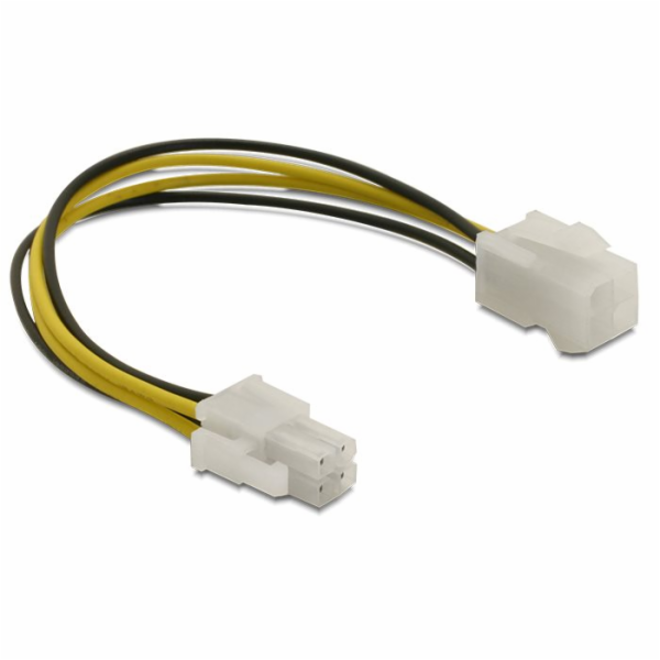 Delock 82428 prodlužovací napájecí kabel p4 (4-pinový) samec/samice, 15cm