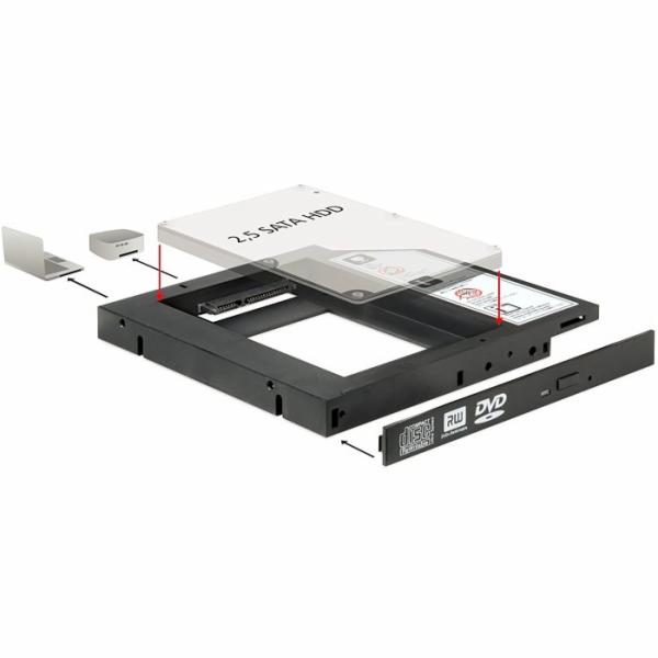 """Delock Slim SATA 5.25 instalační rámeček pro 1 x 2.5"""" SATA HDD/SSD"""