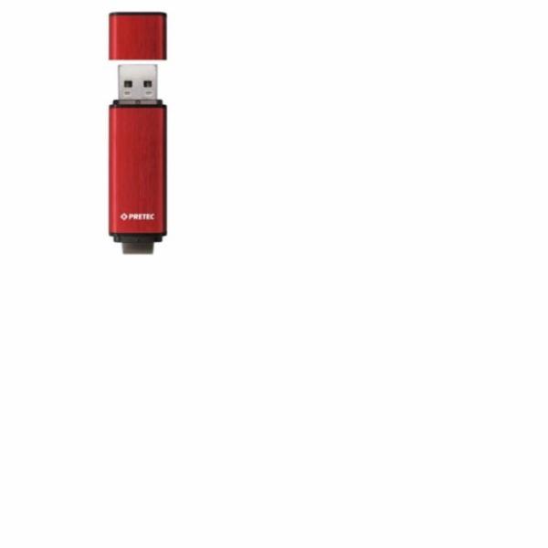 PRETEC USB 3.0 Flash Drive REX130 (100MBs/20MBs) 16 GB - červený