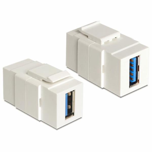 Delock Keystone modul USB 3.0 A samice > USB 3.0 A samice
