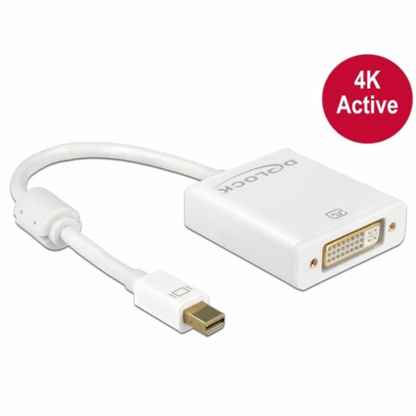 mini Displayport 1.2 Stecker > DVI Buchse 4K Aktiv, Adapter