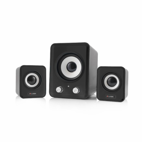Modecom reproduktory Logic LS-20, 2.1, 11W RMS, USB, 3,5 mm jack, černé