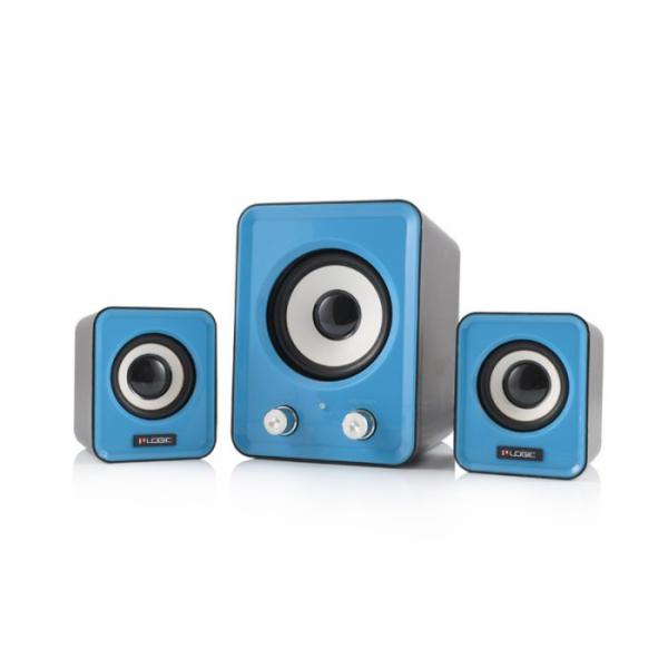 Modecom reproduktory Logic LS-20, 2.1, 11W RMS, USB, modré