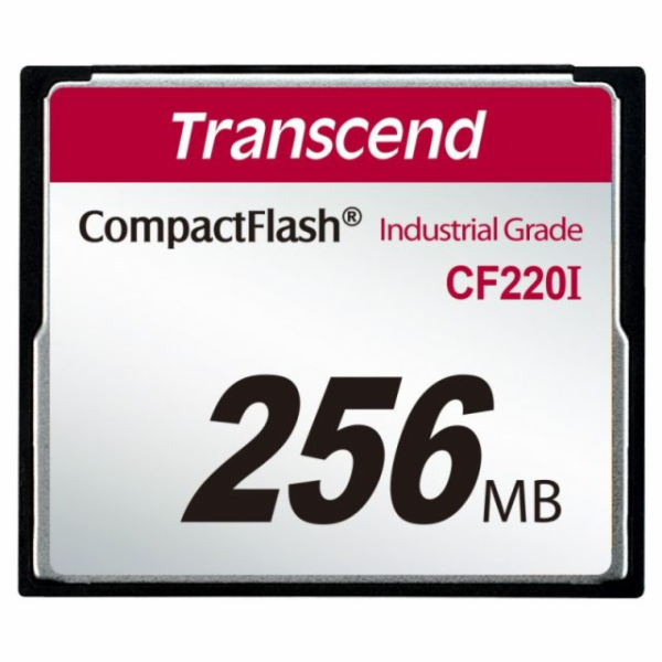 Transcend 256MB INDUSTRIAL TEMP CF220I CF CARD (SLC) Fixed disk and UDMA5