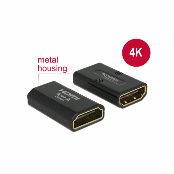 Delock adapter HDMI(F)->HDMI(F) High Speed HDMI with Ethernet 4k